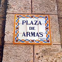 Central America, Cuba, Havana. Plaza de Armas, Havana.