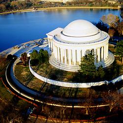 Aerial photograph of the Lincoln Memorial & <br /> Washington, DC