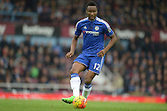 Mikel John Obi of Chelsea in action. Barclays Premier League, West Ham Utd v Chelsea at The Boleyn Ground, Upton Park in London on Saturday 24th October 2015.<br /> pic by John Patrick Fletcher, Andrew Orchard sports photography.