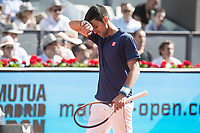 Serbian Novak Djokovic during Mutua Madrid Open Tennis 2017 at Caja Magica in Madrid, May 13, 2017. Spain.<br /> (ALTERPHOTOS/BorjaB.Hojas)