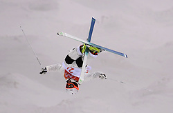 Competitors practice during the Freestyle Skiing mens Moguls Entries by Event during a preview day at the Phoenix Snow Park, ahead of the PyeongChang 2018 Winter Olympic Games in South Korea.