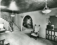 1940 Interior of Garden of Allah Hotel on Sunset Blvd. in West Hollywood