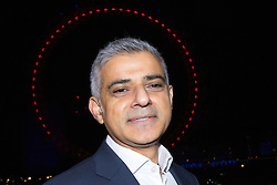 London, December 31st 2016. Mayor of London Sadiq Khan whose office is hosting London's famous New Year's fireworks display speaks to the media. <br /> ©Paul Davey<br /> FOR LICENCING CONTACT: Paul Davey +44 (0) 7966 016 296 paul@pauldaveycreative.co.uk