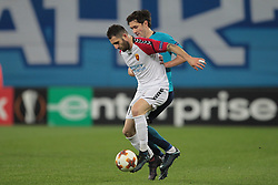 November 23, 2017 - Russia - forward Tigran Basregjan of FC Vardar and midfielder Yuri Zhirkov of FC Zenit during UEFA Europa League Football match Zenit - Vardar. Saint Petersburg, November 23,2017 (Credit Image: © Anatoliy Medved/Pacific Press via ZUMA Wire)