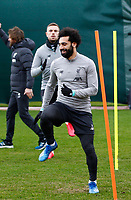Football - 2019 / 2020 season - Liverpool training & press conference pre-Atletico Madrid<br /> <br /> Mohamed Salah of Liverpool during today's open training session at Melwood ahead of tomorrow's Champions League match against Atletico, at Anfield.<br /> <br /> COLORSPORT/ALAN MARTIN