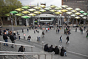 View towards the old Stratford Centre shopping centre in the regenerated Stratford in East London, United Kingdom. Stratford is now East Londons primary retail, cultural and leisure centre. It has also become the second most significant business location in the east of the capital.