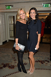 Left to right, CHRISSIE REEVES and LOUISE COLE at the 26th Cartier Racing Awards held at The Dorchester, Park Lane, London on 8th November 2016.
