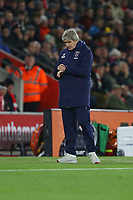 Football - 2019 / 2020 Premier League - Southampton vs. West Ham United<br /> <br /> A quick check of the watch for West Ham United Manager Manuel Pellegrini during the Premier League match at St Mary's Stadium Southampton <br /> <br /> COLORSPORT/SHAUN BOGGUST