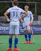AMSTELVEEN - Jip Janssen (Kampong) deed wel mee aan de warming up maar speelde niet mee .  hoofdklasse hockeywedstrijd mannen, Pinoke-Kampong (2-5) . COPYRIGHT KOEN SUYK