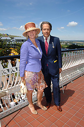 The EARL & COUNTESS OF MARCH at the 4th day of the Glorious Goodwood racing festival 2007 held at Goodwood Racecourse, West Sussex on 3rd August 2007.<br />