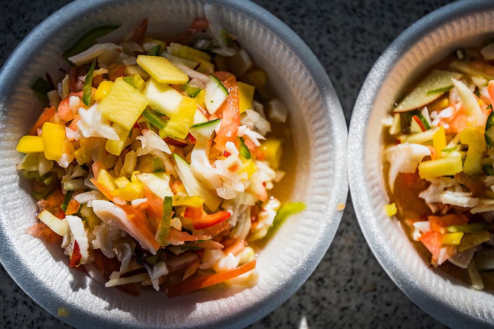 Conch salad is one of the most common and popular conch dishes found throughout The Bahamas. The conch is added to the dish raw much like ceviche.