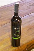 Bottle of Zilavka Zlatna Dolina Vrhunsko Bielo Suho Vino white wine 2005 Hercegovina Produkt winery, Citluk, near Mostar. Federation Bosne i Hercegovine. Bosnia Herzegovina, Europe.