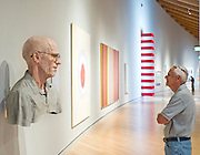 Jim Phillips of Abingdon, Va., looks at Evan Penny, Old Self: Portrait of the Artist as He Will (Not) Be. Variation #2, at Crystal Bridges Museum of American Art on Monday, June 10, 2013, in Bentonville, Ark.