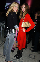 Left to right, CHARLOTTE NOBLE and ANOUSKA GERHAUSER at a fashion show and after party to celebrate the 20th Anniversay of fashion designer Ozwald Boateng held at the Victoria & Albert Museum, London on 25th November 2005.<br />