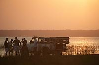 Safari Car in a game park near a lake in South Africa