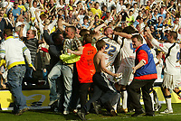 Photo: Aidan Ellis.<br /> Leeds United v Plymouth Argyle. Coca Cola Championship. 07/04/2007.<br /> Leeds Lubomir Michalik is mobbed after scoring the winner