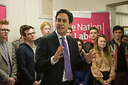 8th April 2013, Ed Miliband speaking at the The Co-op Education Centre, Ipswich to launch Labour's election campaign for May 2013 local elections