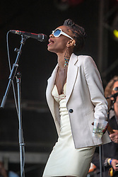 """Alabama 3 play the main stage. Sunday, Rockness 2013, the annual music festival which took place in Scotland at Clune Farm, Dores, on the banks of Loch Ness, near Inverness in the Scottish Highlands. The festival is known as """"the most beautiful festival in the world""""."""