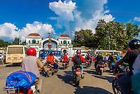Two-wheeled traffic, Kathmandu, Nepal.