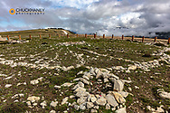 Medicine Wheel/Medicine Mountain National Historic Landmark in the Bighorn Mountains of Wyoming
