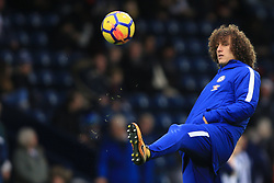 18 November 2017 -  Premier League - West Bromwich Albion v Chelsea - David Luiz of Chelsea warms up hands in pockets - Photo: Marc Atkins/Offside
