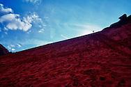 A Giant Red Sand Dune in Wadi Rum, Jordan