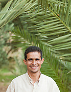 The manager of a community collective which makes products from palm trees, in the Skoura, Morocco