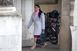© Licensed to London News Pictures. 01/02/2017. London, UK. International Development Secretary Priti Patel seen in the Houses of Parliament. Today, MPs go into the second day of debating the Article 50 Bill. Photo credit : Tom Nicholson/LNP