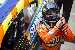 April 13, 2018 - Bristol, Tennesse, United States of America - April 13, 2018 - Bristol, Tennesse , USA: Chase Briscoe (60) gets ready to practice for the Fitzgerald Glider Kits 300 at Bristol Motor Speedway in Bristol, Tennesse  (Credit Image: © Stephen A. Arce/ASP via ZUMA Wire)