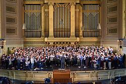 Yale Glee Club 155th Anniversary Celebration 1861-2016. SATB Alumni Chorus Rehearsal at Woolsey Hall 29 October 2016