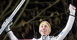 06.01.2014, Paul Ausserleitner Schanze, Bischofshofen, AUT, FIS Ski Sprung Weltcup, 62. Vierschanzentournee, Finale, im Bild Thomas Diethart (AUT) jubelt // Thomas Diethart (AUT) celebrate during Competition of 62nd Four Hills Tournament of FIS Ski Jumping World Cup at the Paul Ausserleitner Schanze, Bischofshofen, Austria on 2014/01/06. EXPA Pictures © 2014, PhotoCredit: EXPA/ JFK