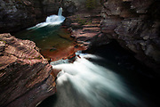 St. Mary Falls, Glacier National Park.