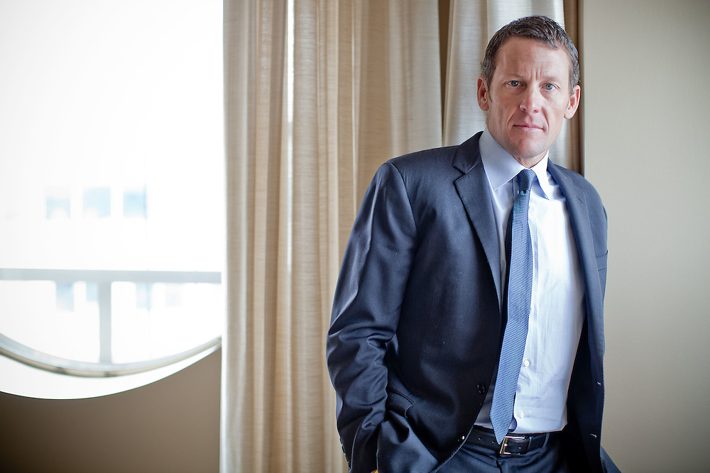 Lance Armstrong poses for a portrait at the Mandarin Oriental hotel in Washington on Thursday, Mar. 24, 2011.  (Photo by Jay Westcott/Politico)
