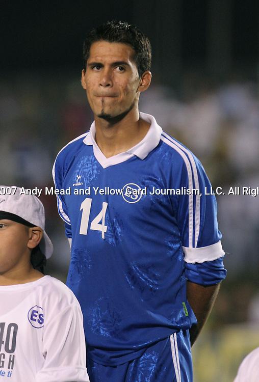El Salvador's Ramon Sanchez on Tuesday, March 27th, 2007 at SAS Stadium in Cary, North Carolina. The Honduras Men's National Team defeated El Salvador 2-0 in a men's international friendly.