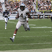 ORLANDO, FL - NOVEMBER 11: Tre'Quan Smith #4 of the UCF Knights trots into the end zone for a touchdown during a NCAA football game between the University of Connecticut Huskies and the UCF Knights on November 11, 2017 in Orlando, Florida. (Photo by Alex Menendez/Getty Images) *** Local Caption *** Tre'Quan Smith