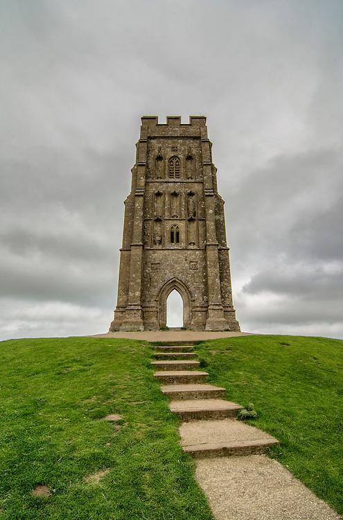 Glastonbury Tor in Somerset, England.