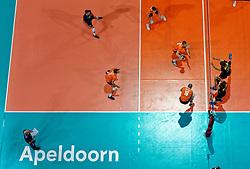 21-09-2019 NED: EC Volleyball 2019 Netherlands - Germany, Apeldoorn<br /> 1/8 final EC Volleyball / Centercourt Apeldoorn, Wessel Keemink #2 of Netherlands, Wouter Ter Maat #16 of Netherlands