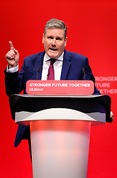 © Licensed to London News Pictures. 29/09/2021 Brighton, UK. Sir Keir Starmer, leader of the Labour Party speaking at Labour Party Conference. Photo credit: Jess Hurd/LNP