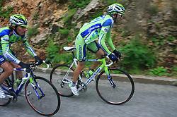 Franco Pellizotti of Italia (Liquigas) and Andrea Noe of Italia (Liquigas) during 3rd stage of the 15th Tour de Slovenie from Skofja Loka to Krvavec (129,5 km), on June 13,2008, Slovenia. (Photo by Vid Ponikvar / Sportal Images)/ Sportida)