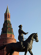 Statue of Marshall Shukov, Red Square, Moscow, Russia
