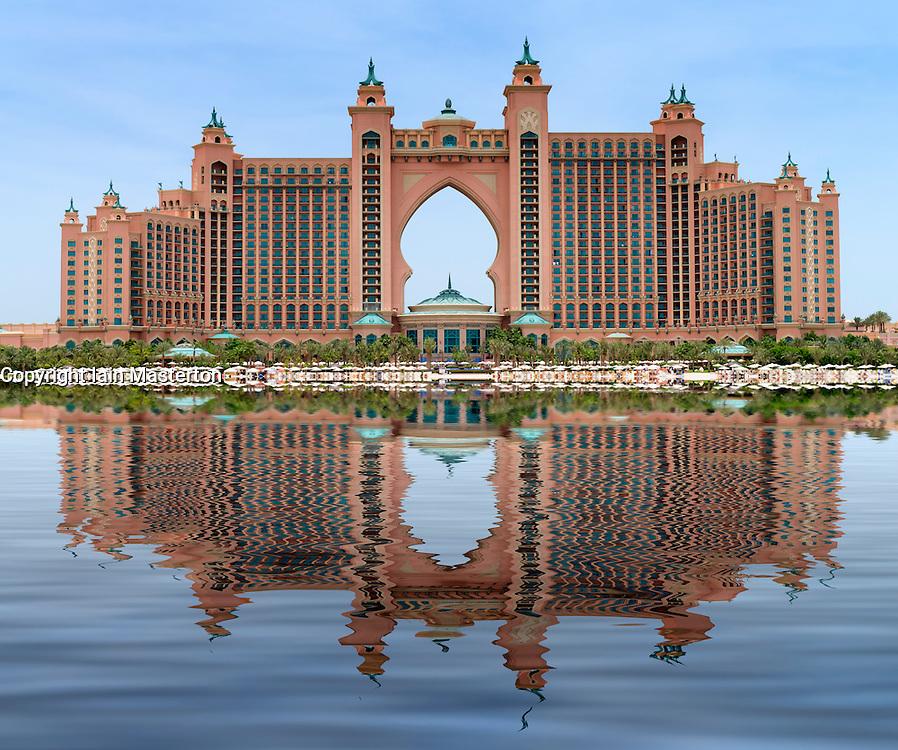 The Palm Atlantis luxury hotel on The Palm Jumeirah artificial island in Dubai United Arab Emirates