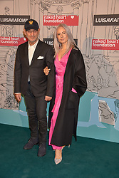 Andrea Panconesi and guest at the Fabulous Fund Fair in aid of Natalia Vodianova's Naked Heart Foundation in association with Luisaviaroma held at The Round House, Camden, London England. 18 February 2019.