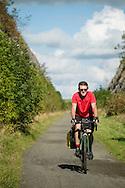 Cycling through the cutting near Parsley Hay on the Tissington Trail