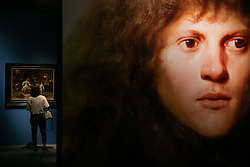 June 16, 2017 - Beijing, capital of China - A visitor looks at a painting during the media preview of an exhibition 'Rembrandt and His Time: Masterpieces from The Leiden Collection', at the National Museum of China. A total of 70 paintings will be presented, including 11 paintings by Rembrandt and other artists representing the entire artistic creation in Dutch Golden Age. (Credit Image: © Zheng Huansong/Xinhua via ZUMA Wire)