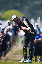 March 21, 2018 - Austin, TX, U.S. - AUSTIN, TX - MARCH 21: Dustin Johnson hits an approach shot during the First Round of the WGC-Dell Technologies Match Play on March 21, 2018 at Austin Country Club in Austin, TX. (Photo by Daniel Dunn/Icon Sportswire) (Credit Image: © Daniel Dunn/Icon SMI via ZUMA Press)