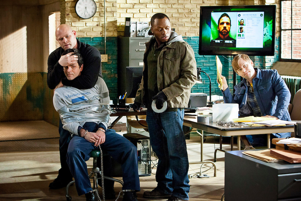 In this episode of Breakout Kings, all the struggling comes to a complete halt as the guys stop what they're doing to watch Julianne carry out her plan. Photo: Skip Bolen / A&E Television Networks