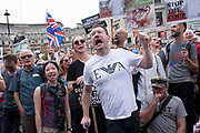 Thousands of protestors demostrate in  Whitehall protesting at Prime Minister Boris Johnson suspension of parliament on 31st August 2019 in London, United Kingdom. His plan to prorogue parliament to block the chance of MPs voting to prevent a No Deal Brexit has prompted an angry backlash from the public, MPs from both opposition parties and the ruling Conservative Party.