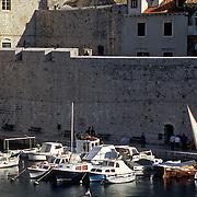 Harbor view in Dubrovnik, Croatia