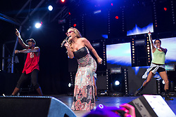 """© Licensed to London News Pictures . 22/08/2014 .  Manchester , UK . ANASTACIA performs on the main stage in the car park . Manchester Pride """" Big Weekend """" in Manchester's """" Gay Village """" today ( 22nd August 2014 ) . Photo credit : Joel Goodman/LNP"""
