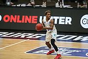 Basketball: Deutschland, 1. Bundesliga, Hamburg Towers - HAKRO Merlins Crailsheim, Hamburg, 10.01.2021<br /> TJ Shorts (Towers)<br /> © Torsten Helmke